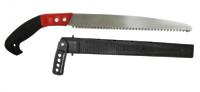 Ножовка садовая с резиновой ручкой в ножнах