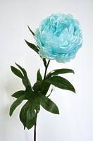 Пион одиночный голубой 75см