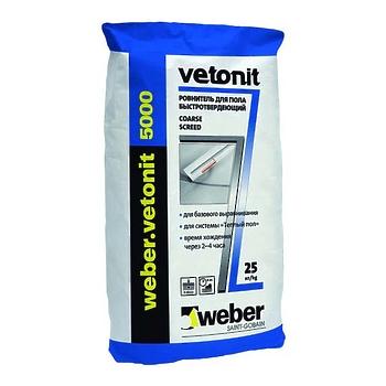 Наливной пол Ветонит 5000 (5-50 мм) 25 кг