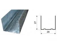 Профиль направляющий 27х28 0.55 мм 3м