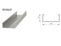 Профиль Потолочный 60х27х3000 0.4 мм
