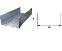 Профиль направляющий 75х40х3000 0.4 мм