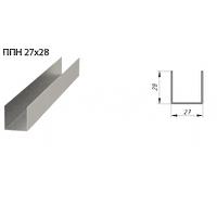 Профиль направляющий 28х27х3000 0.4 мм