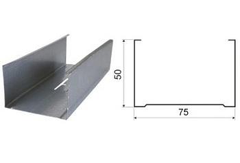 Профиль стоечный 75х50х3000 0.6 мм Кнауф