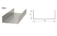 Профиль направляющий Кнауф 100х40х3000 0.6 мм