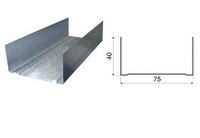 Профиль направляющий 75х40х3000 0.6 мм Кнауф