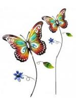 Поддержка для растений декоративная цветная  Бабочка